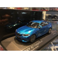 吉華科技@MINICHAMPS BMW M2 Competition 藍色 1/43