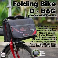 For Sale Folding Front Block Bike Bag Dahon Brompton Not A Rockbros Seli Suitcase - Indo Black