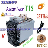 Used BITMAIN Asic miner AntMiner T15 23T 7nm SHA256 With PSU Bitcoin Miner Better Than S9 T17 T9 WhatsMiner M3 M21S M20S T2 T3