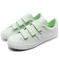 【NEW BALANCE】休閒鞋 210 D 復古 女鞋 紐巴倫 帆布 魔鬼氈 韓系 綠 白(AM210VGRD)