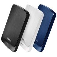 威剛 ADATA HV320 1TB/2TB/4TB/5TB 2.5吋行動硬碟 黑/藍/白 AES加密技術 震動感知