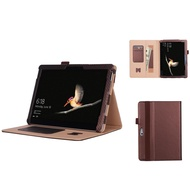 Microsoft Surface Go/Go 2 All-in-One Protective Rugged Cover Case with Pen Holder Hand Strap, PU Leather Case Cover with Card Slot for Surface Go 2 2020 / Surface Go 2018 10 inch