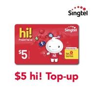 Singtel $5 hi! Top-up