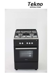 Tekno Range TGR4058GSB (4 Gas burner, Gas Oven, Gas Grill with Safety Device )