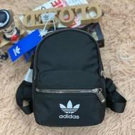 กระเป๋าเป้ Adidas แท้ สีดำ ผู้หญิง Mini Backpack Nylon สวย เก๋
