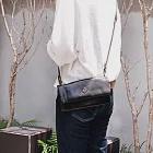 CLEDRAN|日本製手工真皮時尚2WAY手拿包/斜肩包黑色