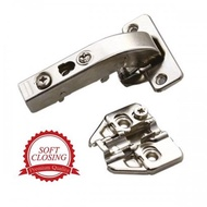 EXCEL-DTC Soft-Closing Hinge With Adjustable Mounting Plate