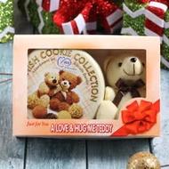 【麥斯】小熊經典手工曲奇餅乾鐵盒4盒組(附贈可愛玩偶 300g*4盒)