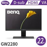 BenQ 22型VA面板雙HDMI光智慧護眼液晶螢幕-GW2280(D-sub/HDMI/喇叭1w*2)
