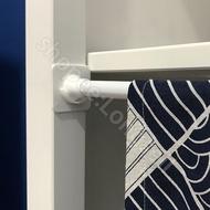 Telescopic Rod Sticker Shower Curtain Rod Holder Holder Sticky Hook Anti-falling Rod Rod Curtain