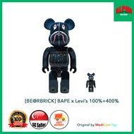 [Pre-Order] 100% Authentic BEARBRICK BAPE x Levis 100%+400% (Rare and 1 limited stock ONLY)(ETA-2021-06-23)