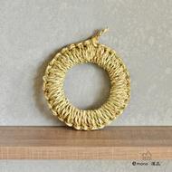 日本 佐渡島産 手工編織鍋敷 隔熱墊 鍋墊 18㎝ 現貨