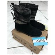 Mushroom 二手鞋櫃 Toms Nepal Boots 綁帶羊毛雪靴
