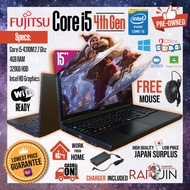 LAPTOP - FUJITSU CORE i5 4th GEN - 4GB RAM - 320GB HDD - INTEL HD GRAPHICS - WIFI READY - FREE MOUSE - WITH CHARGER - USED