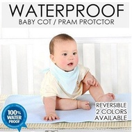 ★SG Seller★ Waterproof Baby Cot Protector Diaper Changing Pad Pram Stroller Mattress Bed Protector Foldable Soft