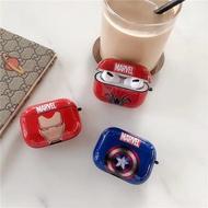 『漫威Marvel』現貨> Airpods 保護套 鋼鐵人 美隊 蜘蛛人耳機套 蘋果藍芽耳機Airpods Pro保護殼