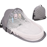 MiyaSudy Foldable Travel Bassinet Portable Foldable Baby Bed Baby Nest Bed Bassinet Mattress Diaper Bag Mammy Backpack 37.4 inch