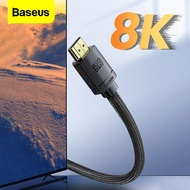 Baseus HDMI 2.1 to HDMI Cable For Xiaomi Mi Box 8K/60Hz 4K/120Hz 48Gbps Digital Cables for PS5 PS4 PC TV Box Laptops Monitor HDMI Splitter