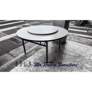 [普普家具] 客製化5尺圓餐桌/大圓桌/辦桌/中島桌/工作桌/會議桌/洽談桌/高腳桌/吧台桌 折合折疊 工廠直營