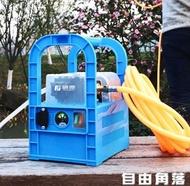 充電式抽水機 藤原電動抽水機手提式戶外小型澆菜12v電瓶農用充電抽水泵