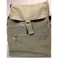 kipling 猴子 後背包 水桶包 束口包 (草綠色)