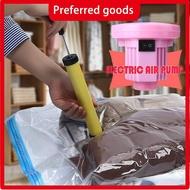 Portable Air Pump Reusable Travel Essential Vacuum Storage Bag Transparent Border Foldable Compressed Bag For Mattress Clothes