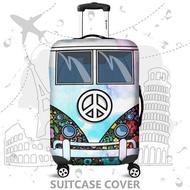 กระเป๋าเดินทางปก 3Dกระเป๋าเดินทางป้องกันเหมาะกับ 18-32 นิ้วล้างทำความสะอาดได้ยืดหยุ่นกระเป๋าเดินทางกระเป๋าปกกันฝุ่นสัมภาระที่ครอบ