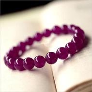 【晶誠】天然水晶天然紫玉髓手鏈 紫紅玉髓手鏈