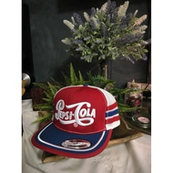 [READY STOCK] 🔥TOPI VINTAGE PEPSI COLA TRUCKERS / CAP 🇺🇸TAG MADE IN USA 🔥READY STOCK