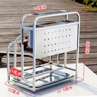 304 Stainless Steel Chopping Board Holder Multi-functional Kitchen Province Space Storage Shelf Thickness Cutting Board Chopping Block Rack Storage Rack for Kitchenware