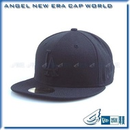 【ANGEL NEW ERA】MLB 洛杉磯道奇 LA 黑 底黑字 59FIFTY 訂製帽 西岸 街頭 棒球帽
