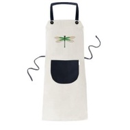 Traditional Chinese Kite Dragonfly Pattern Cooking Kitchen Beige Adjustable Bib Apron Pocket Women Men Chef Gift - intl
