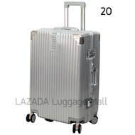 HANK881s กระเป๋าเดินทาง 20 24 28นิ้ว กระเป๋าล้อลาก 100%PC กรอบอลูมิเนียม กันน้ำ ล้อที่ถอดออกได้ เหมาะสำหรับชายหญิง Travel bag