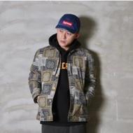 組合變形蟲工作外套【黑X卡其】 Multi-Paisley Work Jacket [ PURE by TAKI ]