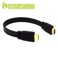 BENEVO 30cm 高畫質雙鍍金接頭HDMI1.4影音扁平連接線