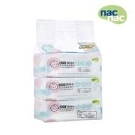 nac nac EDI超純水嬰兒潔膚柔濕巾(80抽3包)濕紙巾-米菲寶貝