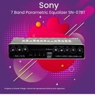 SONY SN-07BT 5 Band Parametric Equalizer with Bluetooth/ USB Port w/ Remote