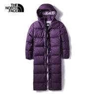 The North Face北面女款紫色防潑水長版羽絨外套|3VUWG03