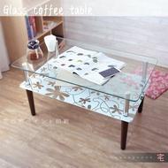 幸運草雙層玻璃茶几桌【L0001】 茶几桌 和室桌 桌子 寫字桌 MIT台灣製|宅貨