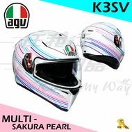 任我行騎士部品 AGV K3SV SAKURA PEARL WHITE/PURPLE 全罩 安全帽 內墨鏡 除霧片 K3-SV