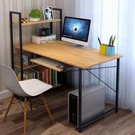 【花架子】白黑色長90/100/115/120寬45 55 60cm簡約置物書架電腦桌學習書桌