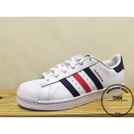 【Tom-m】ADIDAS ORIGINALS SUPERSTAR 白藍紅 復古 貝殼頭 男女 S79208