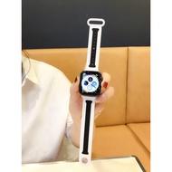 【MoMo】重磅 優選 現貨MO適用蘋果serise iwatch4表帶硅膠線條iwatch3運動型apple wat