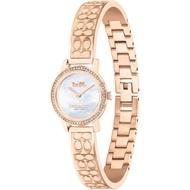 【COACH】C LOGO經典手環水晶貝面腕錶-22mm/玫瑰金(14503498)