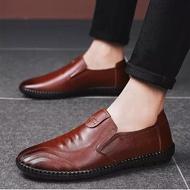 Beauty shoes รองเท้าไม่มีส้นของผู้ชายรองเท้าคัชชูชายรองเท้าหนังชายรองเท้าคัชชู ผช Mens Loafers Mens Leather Shoes