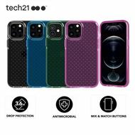 Original Tech21 Evo Check CaseสำหรับApple IPhone12 12 Pro Max 12มินิทหารเกรดAnti-Knockโทรศัพท์กรณีฝาครอบ