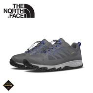 【The North Face 美國 男 GORE-TEX 徒步鞋《鋅灰/藍》】3FYY/健行鞋/防水/越野鞋/健行鞋/跑步