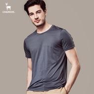 【Chamois加摩仕】機能彈力速乾吸濕排汗素面T-shirt (灰)