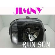 ●○RUN SUN 車燈,車材○● 全新 SUZUKI 鈴木 JIMNY 原廠型 黑底 大燈 一顆3000