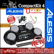 Alesis Compactkit 4 Portable Tabletop Electronic Drum Kit w/Drumstick and Adapter
